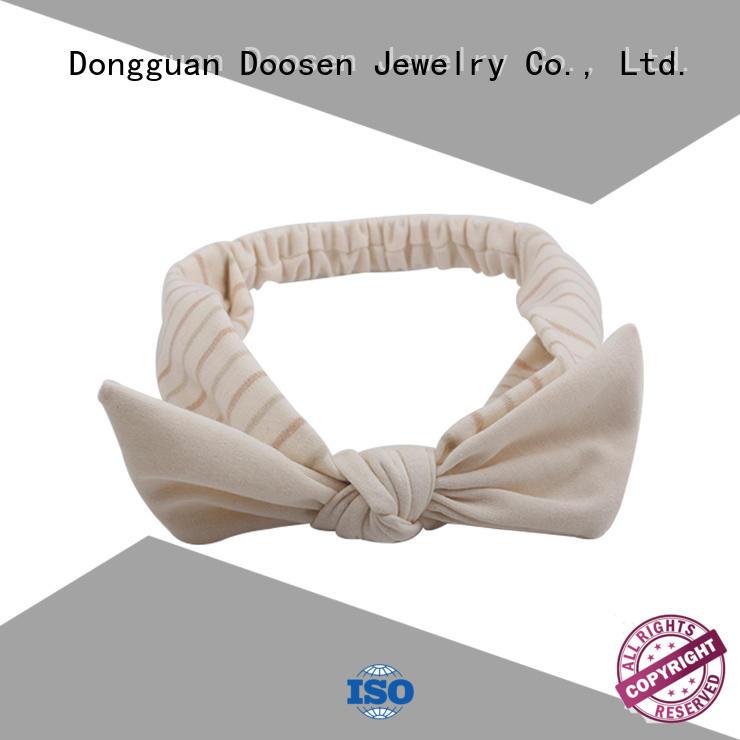 Hot organic material cross headband milk Duosen Accessory Brand