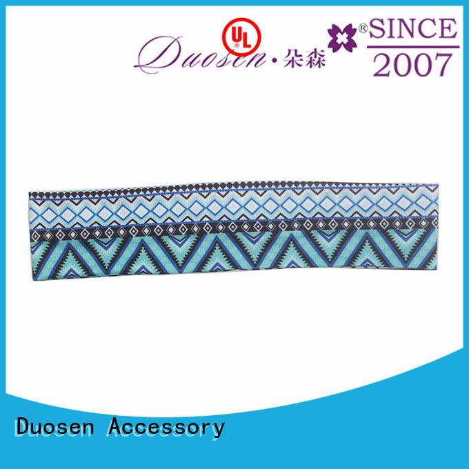 cross striped cow pineapple organic fabric headband Duosen Accessory
