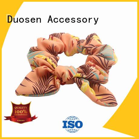 Duosen Accessory online cotton hair scrunchies organic for girls