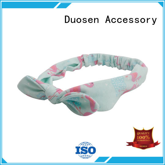 Duosen Accessory ODM girls fabric headbands knotted for prom