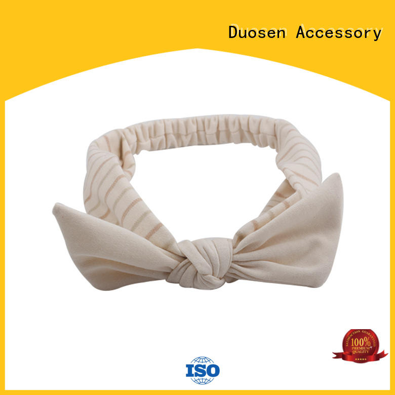 Duosen Accessory Brand eco ecofriendly organic material cross headband coffee supplier