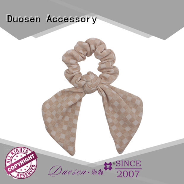 Duosen Accessory recycled fabric scrunchies company for girls