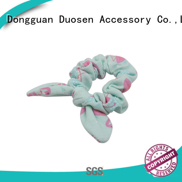 Duosen Accessory cute bow hair scrunchie factory for women