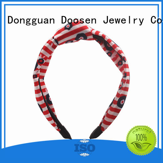 Wholesale flowers hairbands organic fabric headband Duosen Accessory Brand