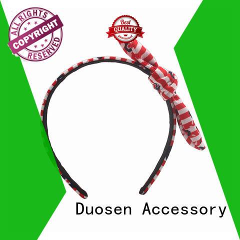 wave bright Duosen Accessory Brand organic material cross headband factory