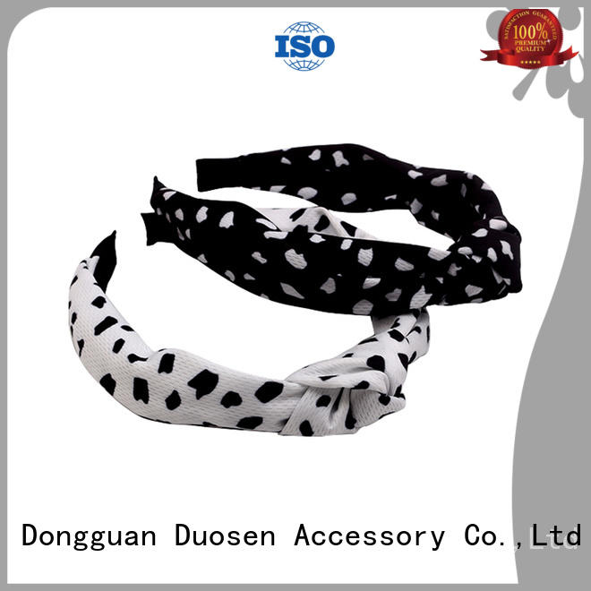 Duosen Accessory milk fabric bow headband Suppliers for running