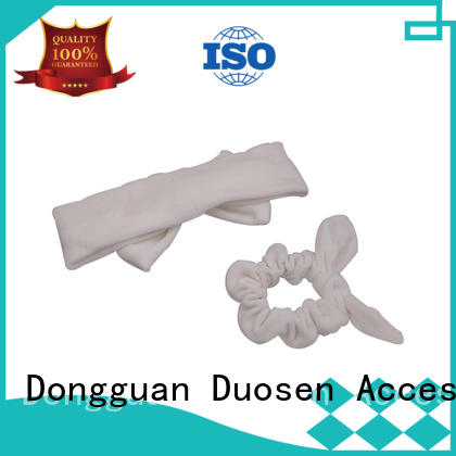 Duosen Accessory scrunch recycled fabric hairband Suppliers for running