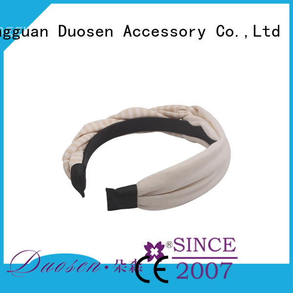 Duosen Accessory Wholesale organic cotton headband factory for prom