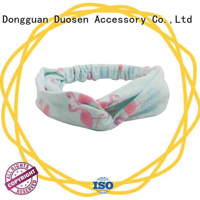 Duosen Accessory convinent organic fabric hairband wholesale for prom