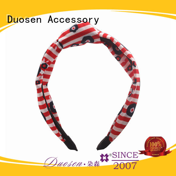 Duosen Accessory hairbands twisted fabric headband Suppliers for party