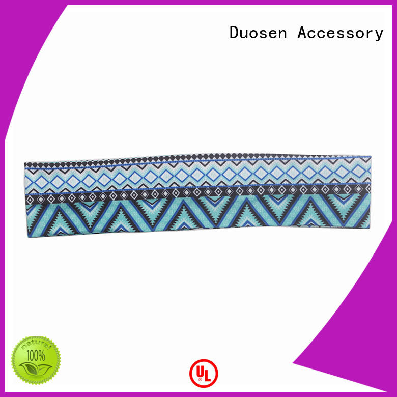 Duosen Accessory eco-friendly organic cotton headband manufacturers for sports