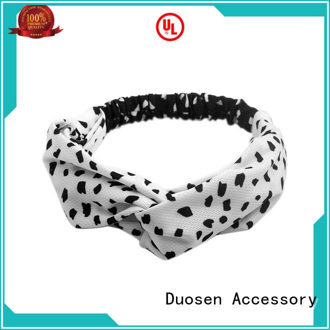 changeable organic material cross headband selling three Duosen Accessory Brand