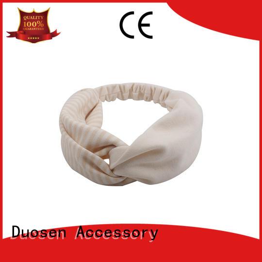 Hot stripe organic fabric headband spot ecofriendly Duosen Accessory Brand