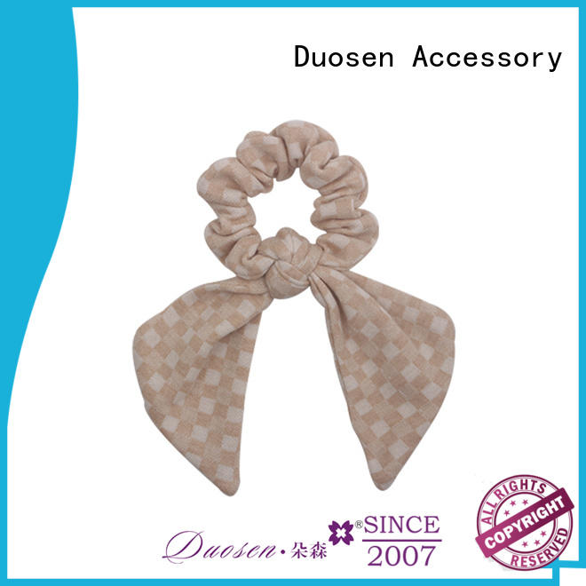 Duosen Accessory style fabric hair tie for business for daily life