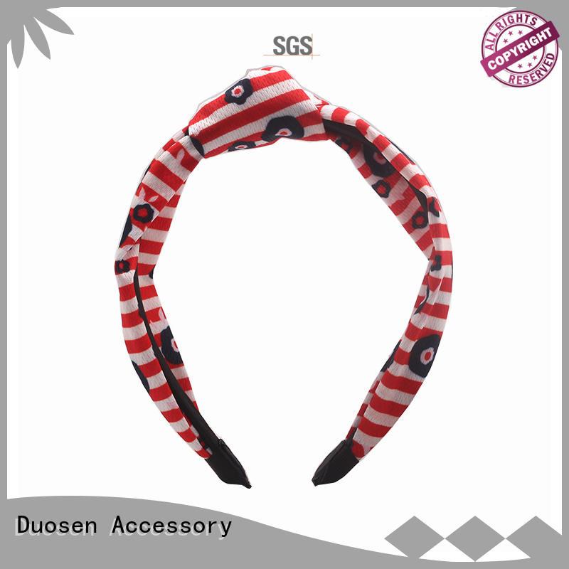 Hot flower organic fabric headband three geometric Duosen Accessory Brand