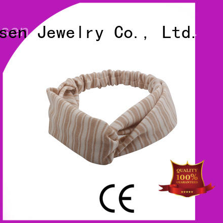 Wholesale changeable organic material cross headband knotted Duosen Accessory Brand