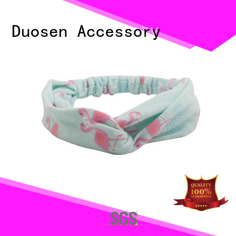 blue eco-friendly knotted hairband customized for dancer Duosen Accessory