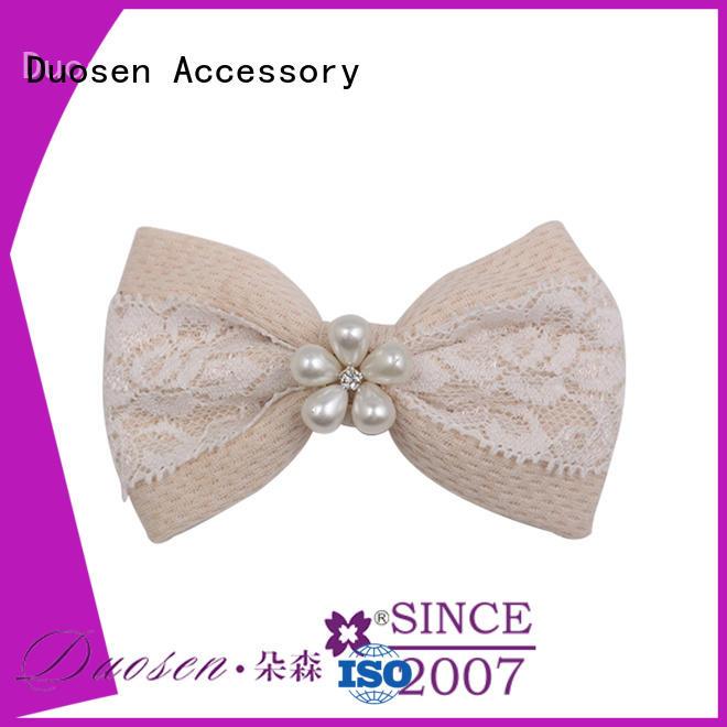 Duosen Accessory girls cloth flower hair clips factory for girls