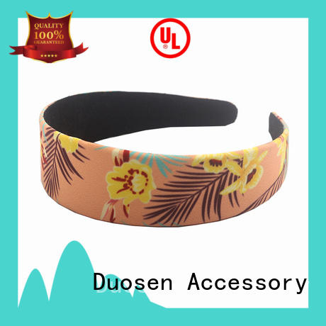 Duosen Accessory Custom cloth hairband Supply for prom