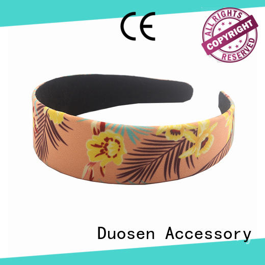 Duosen Accessory lightweight cotton turban headband customized for daily Life