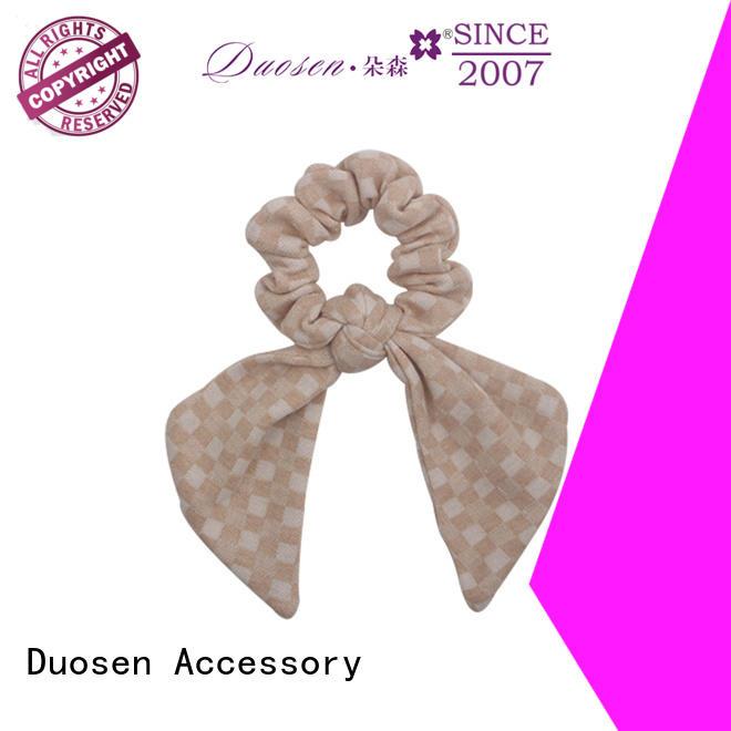 Duosen Accessory durable bow hair scrunchie series for women