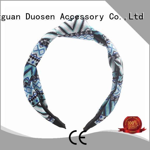 Duosen Accessory red organic fabric headband company for sports