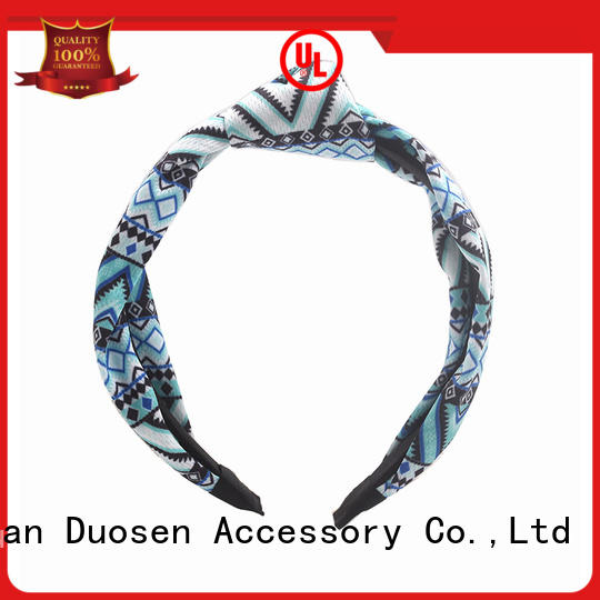Duosen Accessory ODM recycled fabric hairband wholesale for sports