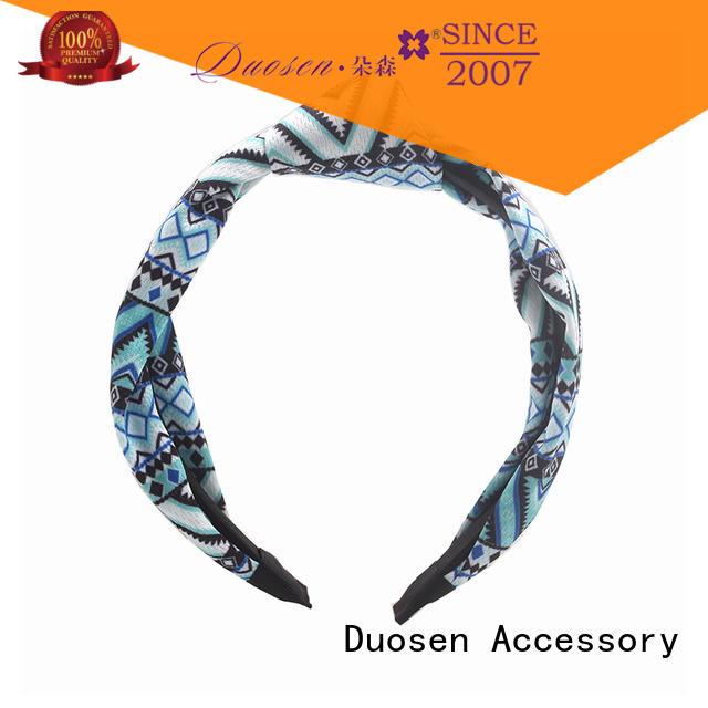 Duosen Accessory Custom fabric bow headband manufacturers for prom