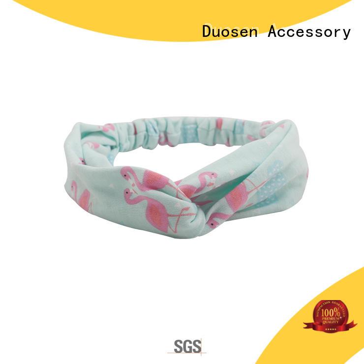 Duosen Accessory flowers fabric bow headband with regular use for running