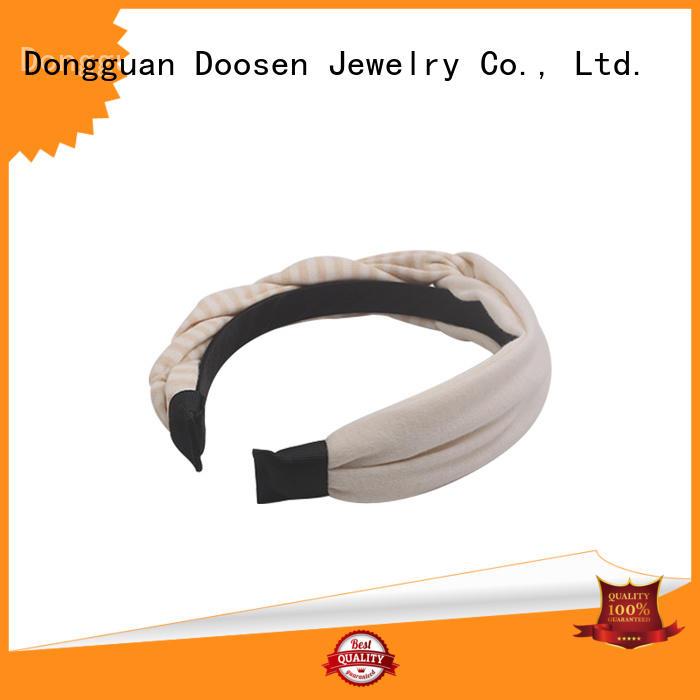 Duosen Accessory Brand soft organic material cross headband bright supplier