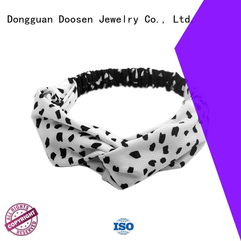 Quality Duosen Accessory Brand red organic fabric headband