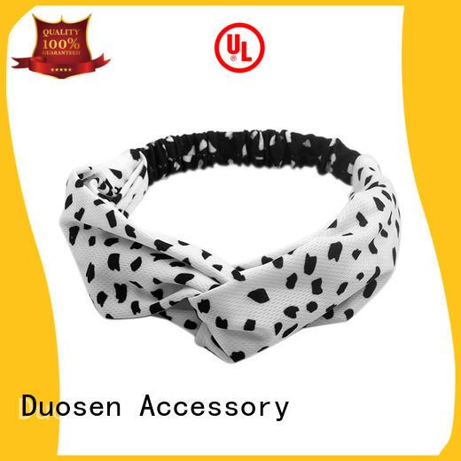 striped eco-friendly custom headband milk for prom Duosen Accessory