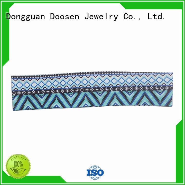 Duosen Accessory Brand hair organic material cross headband red supplier