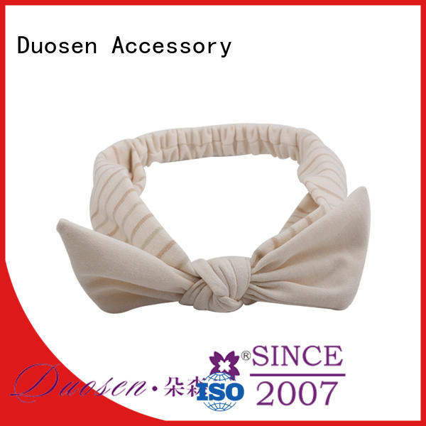 Duosen Accessory sides fabric bow headband for business for dancer