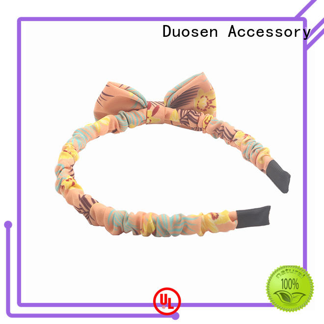eco-friendly girl headband flowers for party Duosen Accessory