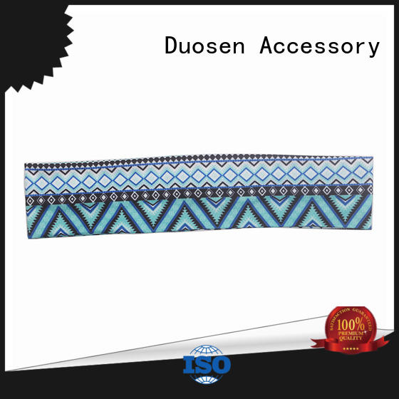 Duosen Accessory charming girls fabric headbands wholesale for sports