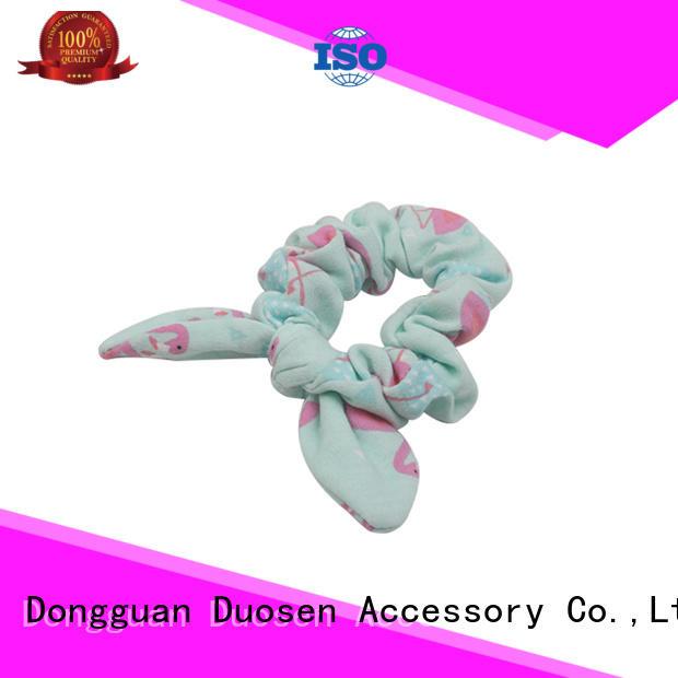 Duosen Accessory boho bow hair scrunchie factory for girls