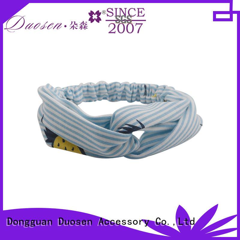 Duosen Accessory elegant organic fabric bow headband series for running