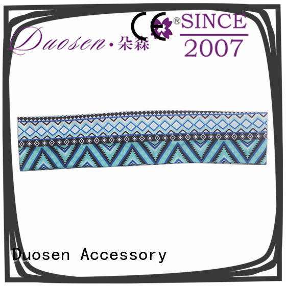Duosen Accessory OEM fabric tie headbands keep your hair style for prom