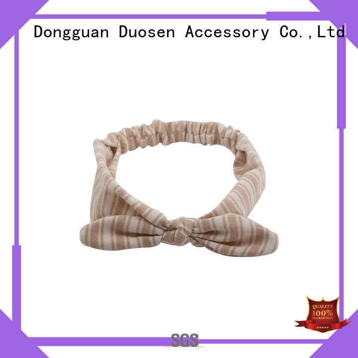 Duosen Accessory Top fabric elastic headbands Supply for sports