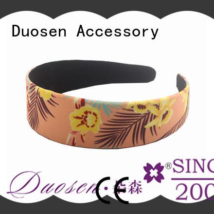 Duosen Accessory elegant organic fabric headband manufacturer for sports