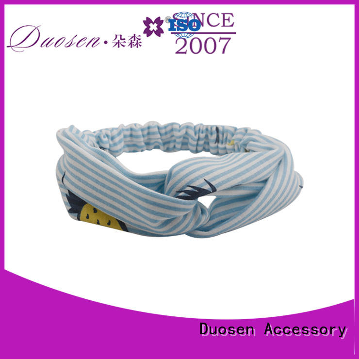 different fabric headbands wholesale cross for running Duosen Accessory