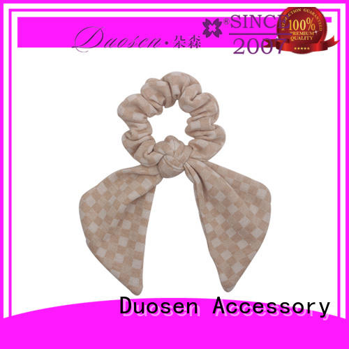 Latest bow hair scrunchie scrunch Supply for girls