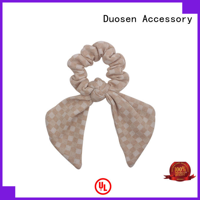 fabric hair tie color for girls Duosen Accessory