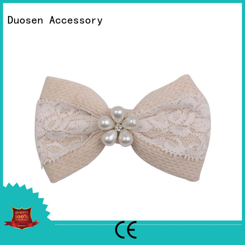 Duosen Accessory Custom make your own hair clips company for girls