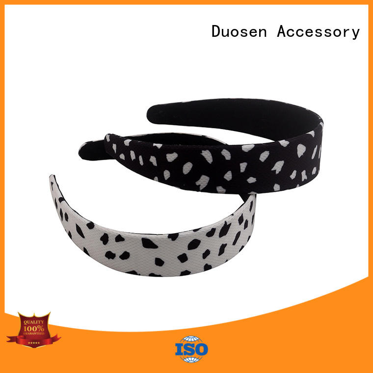 two fabric headbands wholesale customized for running Duosen Accessory