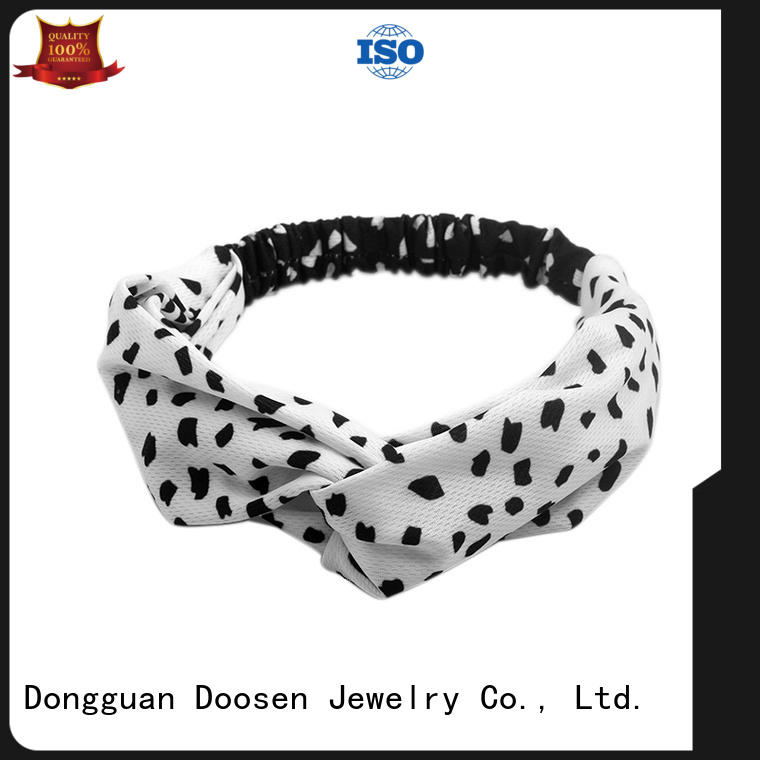 Quality Duosen Accessory Brand organic material cross headband red color