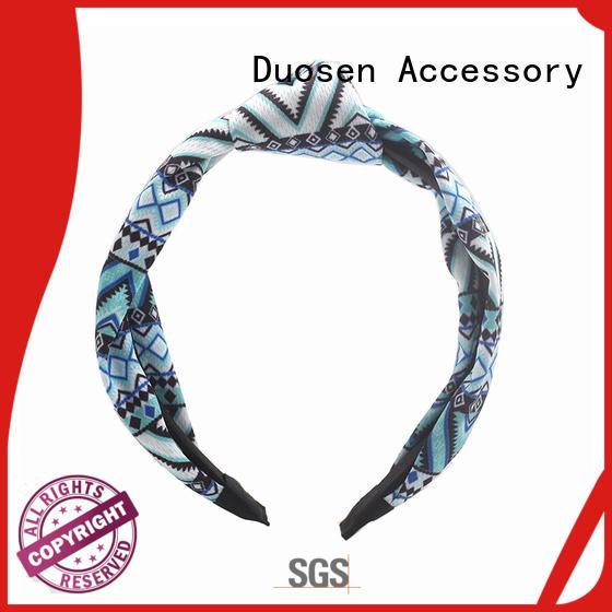 cross scrunch Duosen Accessory Brand organic material cross headband