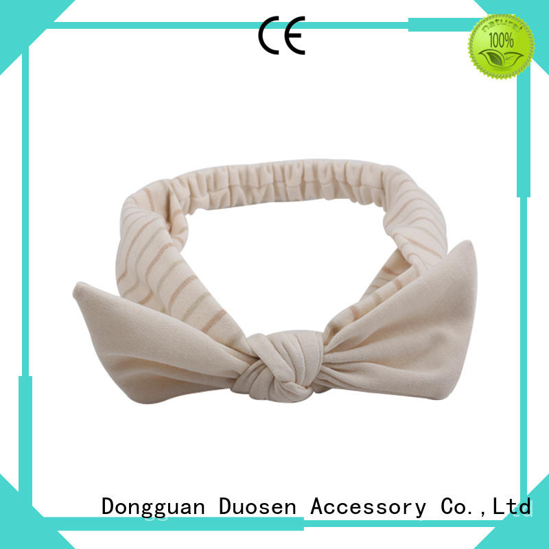 Duosen Accessory OEM organic fabric bow headband supplier for daily Life