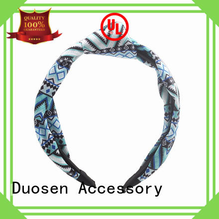 Duosen Accessory charming fabric wrapped headbands design for running
